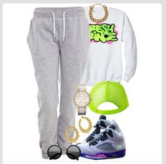 A fashion look from August 2013 featuring CÉLINE sweatshirts, White Label activewear pants and MICHAEL Michael Kors watches. Browse and shop related looks. I wouldn't do the hat tho Nike Outfits, Swag Outfits, Casual Outfits, Urban Fashion, Teen Fashion, Fashion Outfits, Korea Fashion, India Fashion, Womens Fashion