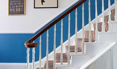 Transforming a Victorian terraced home | Real Homes. We agonised for hours and days over the staircase and finally chose this lovely blue and white scheme with a multi colour striped carpet by Crucial Carpets. We felt it captured the spirit of the seaside!