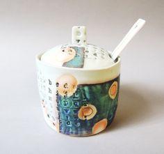 porcelain sugar container by stepanka www.stepanka.etsy.com