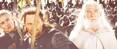 Legolas in the background. lol