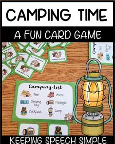 This fun camping theme printable game is perfect as a stand alone game with preschool and early elementary students for basic game play or developing thematic vocabulary. It's also a great addition to a camping theme preschool or kindergarten center. Pair with drill work to liven up speech therapy sessions too! Click here to see more of this resource!
