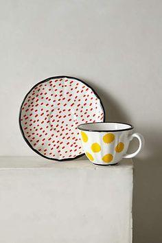 Dot Pop Cup & Saucer - anthropologie.com #anthrofave #anthropologie