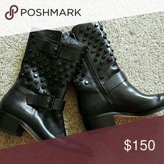 Leather Michael Kors Boots Worn once Michael Kors Shoes Combat & Moto Boots