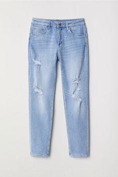 Relaxed Tapered Fit Jeans - Albastru-denim deschis - COPII | H&M RO 1