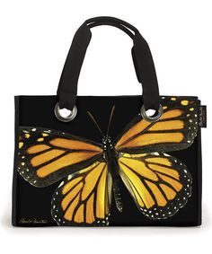 Golden Monarch Butterfly Gather Tote