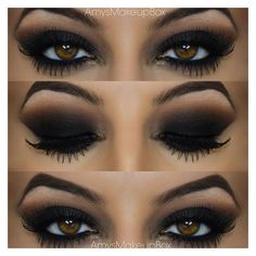 40 Eye Makeup Looks for Brown Eyes ❤ liked on Polyvore featuring beauty products, makeup, eye makeup, eyeshadow, eyes and beauty
