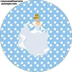 LARGE PRINTABLE SET Cinderela Disney – Kit Completo com molduras para convites, rótulos para guloseimas, lembrancinhas e imagens! | Fazendo a Nossa Festa