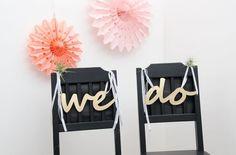 """""""We do"""" Wedding Bunting - a unique product by gluecksschauer. Via en.DaWanda.com."""