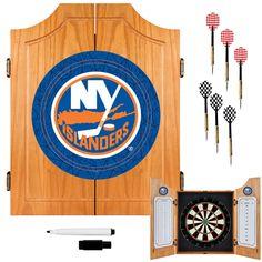 Trademark Commerce NHL7000-NYI NHL New York Islanders Dart Cabinet includes Darts and Board