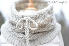 Crochet Pattern: Timeless Cabled Cowl by A Crocheted Simplicity