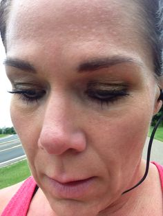 Makeup that stays! Quality makup is a must in every female runners life! Applied this makeup 13+ hours ago and now 2 miles into a run what more can it  take!? www.naomis3dlashlove.com
