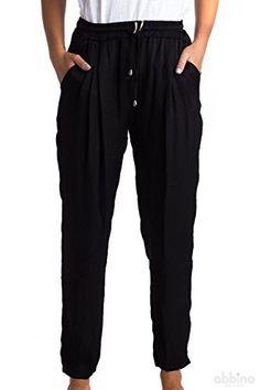 Abbino 1512 Pantalon Femme Fille – Fabriqué en Italie – 6 Couleurs – Été Automne Hiver Chinos Extensible Cotton Casual Fitness Sexy…