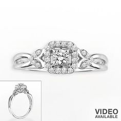 14k White Gold 1/4-ct. T.W. Princess Cut Diamond Ring