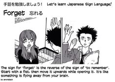 Sign: Forget Japanese Sign Language, British Sign Language, Koe No Katachi Anime, A Silent Voice, The Help, Signs, Learning, Memes, Languages
