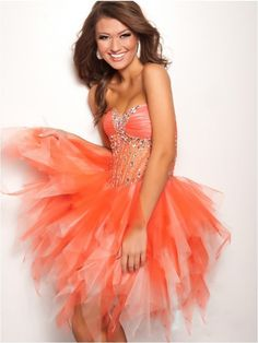 A-line Sweetheart Sleeveless Short/Mini Tulle Homecoming Dresses/Short Prom Dress #FD012