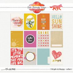 Bright and Happy - Journal Cards {Collab with Amy Wolff and Little Butterfly Wings} at The Lilypad