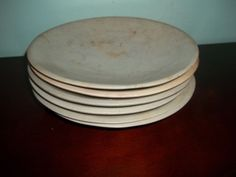 Unusual-Lot-of-6-Carved-Soapstone-Plates-Shallow-Bowls-Serving
