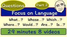 Question Patterns - what? English Speaking Practice, Learn English Grammar, English Vocabulary, English Language, English Tips, English Study, English Class, English Lessons, Wh Questions
