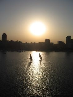 Feluca on Z nile CAIRO