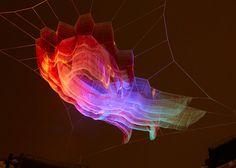 Janet Echelman's 1.8 installation billows above Oxford Circus