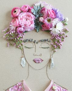 Mother And Daughter Create Amazing Portraits Using Pieces of Nature