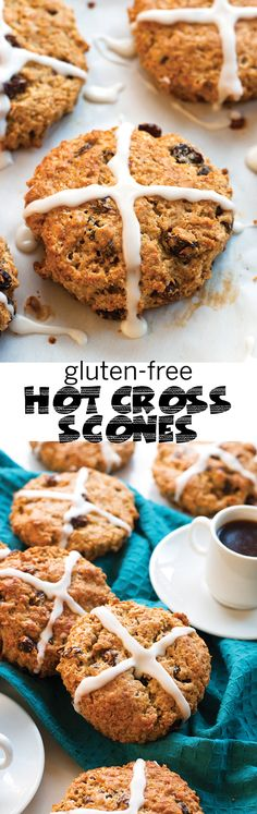 A spin on the traditional Easter treat, these Gluten-Free Hot Cross Scones are lightly sweet and packed with all of the good stuff. | www.grainchanger.com