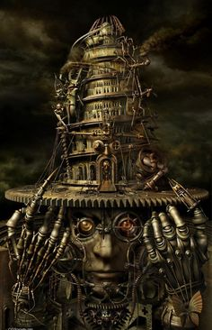 Steampunk Brain Tower Artwork in 25 Awesome Steampunk Artworks  http://speckyboy.com/2013/01/20/steampunk-artwork/