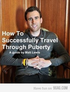 Neville Longbottom, giving the finger to those awkward years.