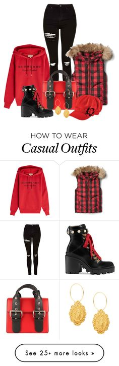 """""""Cozy and Warm"""" by shamrockclover on Polyvore featuring Burberry, Topshop, Vivienne Westwood, San Diego Hat Co. and Gucci"""