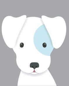 Dog Nursery Art Baby Boy Kindergarten Art Puppy von SweetLittleBar ...  #kindergarten #nursery #puppy #sweetlittlebar