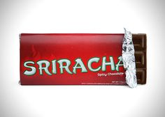 Sriracha Hot Sauce Chocolate Bars