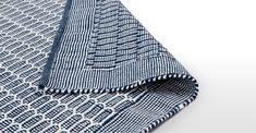 Teal Rug Large Cotton Flatweave 240 x 170cm Arlo | MADE.com