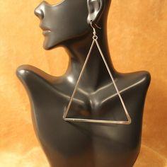 large triangle earrings #dmsstudio