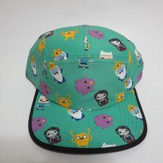 Adventure Time Jake and Finn Five Panel Aqua Green Bioworld Hat  #Bioworld #BaseballCap