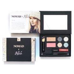 NOMAD x Stockholm AllInOne Makeup Palette with Face Brush Highlighter Blush Eyeshadows Lipbalm #MakeupPalettes Makeup