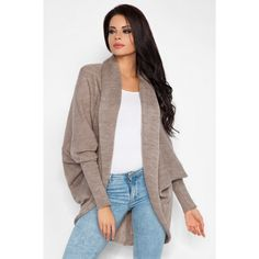 Look what I found on Fobya Latte Open Cocoon Cardigan by Fobya Cocoon Cardigan, Cool Style, My Style, Lingerie, Layered Look, Smart Casual, Lunges, Duster Coat, Elegant