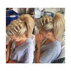 Braided Ponytail Ideas 40 Cute Ponytails with Braids ❤ liked on Polyvore featuring accessories, hair accessories, hair and formal hair accessories