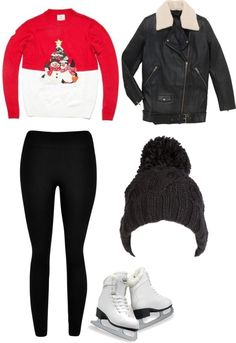 """""""inspired outfit for ice skating with friends"""" by hayleycarbran ❤ liked on Polyvore"""