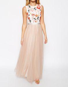 Image 3 of Needle & Thread Embellished Trailing Floral Maxi Dress