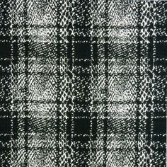 Polyester Ponte Knit - Black and White - Haberman Fabrics