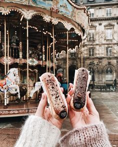 """5,624 Likes, 92 Comments - My name is Anna (@paris.with.me) on Instagram: """"Seems like today won't be the last winter day, so cold and windy in Paris! 🌬☔️ Anyway, éclair-…"""""""