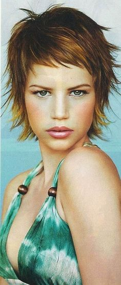 Image result for Short Flip Shag Hairstyles #ShagHairstylesCurly