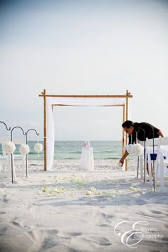 white beach wedding. I have never been more excited for something.