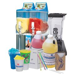 Smoothie, Slushes, Frusheez and Lemonade Equipment, coolers, flavors and mixes, and accessories by Gold Medal Products Co.