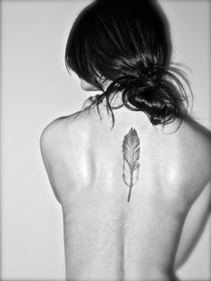 another feather tattoo.