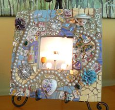 Pique Assiette Mosaic Mirror    Made to Order   by PamelasPieces, $75.00