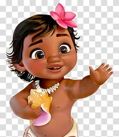 Moana Birthday Party Child The Walt Disney Company, baby, baby Moana illustration transparent background PNG clipart