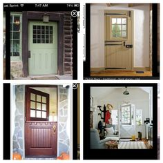 Dutch doors (craftsman style)