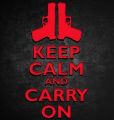 KEEP CALM AND CARRY ON #STICKER