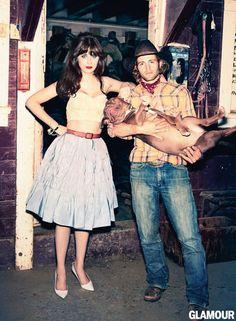 Zooey Deschanel para Glamour US, febrero 2013